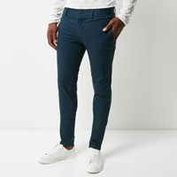 River Island Mens Blue Super Skinny Chino Trousers