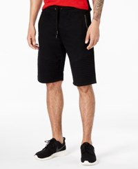 Inc International Concepts I.N.C. Men's Remix Knit Shorts Created For Macy's Deep Black
