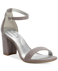 Bandolino Armory Block Heel Sandals Grey