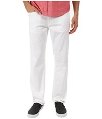Perry Ellis Slim Fit Solid Sateen Five Pocket Pants Bright White Men's Casual Pants