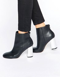 Faith Babe Mirror Heeled Ankle Boots Black