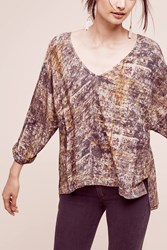 Anthropologie Freya V Neck Tee Brown
