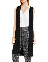 Vince Camuto Front Vest With Patch Pockets Rich Black