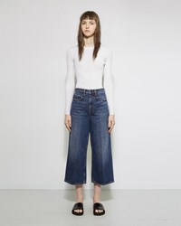 Alexander Wang Drill High Rise Denim Aged Medium Indigo