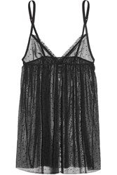 La Perla Plumetis Stretch Point D'esprit Tulle Chemise Black