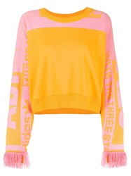 Adidas Cropped Round Neck Sweater Yellow