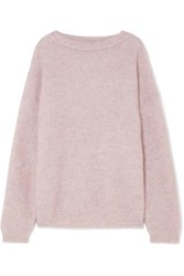 Acne Studios Dramatic Knitted Sweater Lilac