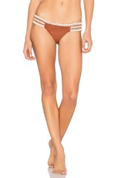 Ale By Alessandra Tab Side Brazilian Bottom Cognac
