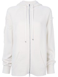 Barrie Zipped Hoodie Cashmere White