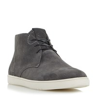 Dune Shoreditch High Top Lace Up Trainers Grey