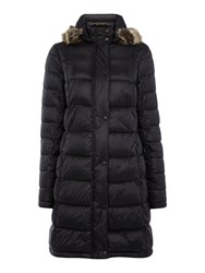Barbour Haven Padded Jacket With Faux Fur Hood Black