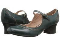 Miz Mooz Fortune Teal Women's Shoes Blue