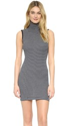 Edith A. Miller Turtleneck Mini Dress Navy Natural Pencil Stripe
