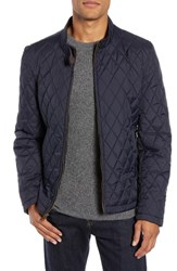 Vince Camuto Quilted Moto Jacket Navy
