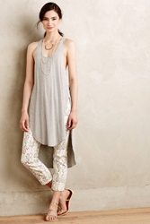 Bordeaux Racerback Tunic Tank Light Grey