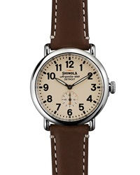 41Mm Runwell Men's Watch Dark Brown Cream Shinola