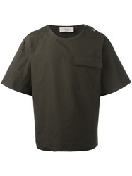 Maison Flaneur Flap Pocket Boxy T Shirt Green