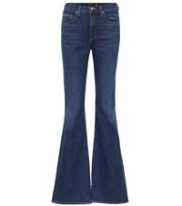 Veronica Beard Beverly High Rise Flared Jeans Blue