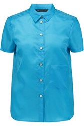 Marc By Marc Jacobs Satin Twill Top Blue