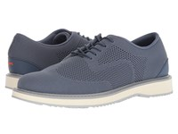 Swims Barry Derby Knit Slate White Light Gray Shoes Blue