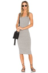 Enza Costa Rib Tank Midi Dress Gray