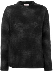 Liska Cashmere Sprayed Effect Sweater Black
