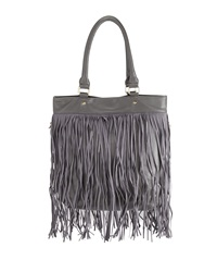 Deux Lux North South Fringe Tote Bag Gray