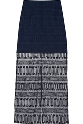Richard Nicoll Embroidered Cotton Tulle Maxi Skirt