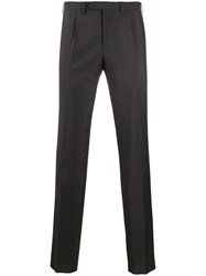 Dell'oglio Tapered Leg Tailored Trousers Brown