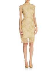 Hailey Logan Lace Midi Cocktail Dress Gold