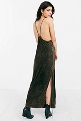Staring At Stars Strappy Knit Maxi Dress Black