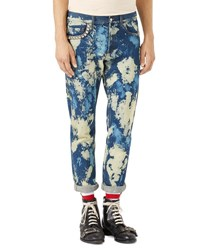 Gucci Bleached Denim Punk Pants Indigo