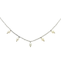 Finesse Freshwater Pearl Drop Chain Necklace