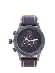 Nixon The 38 20 Chronograph Leather Watch