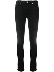 Love Moschino Mid Rise Skinny Jeans Black