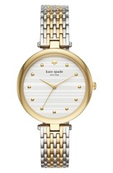 Kate Spade New York Varick Bracelet Watch 36Mm Gold Silver