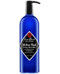Jack Black All Over Wash For Face Hair And Body With Wheat Protein And Panthenol 33 Oz