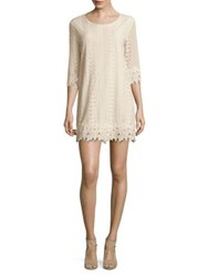 Molly Bracken Three Quarter Crochet Lace Dress Off White