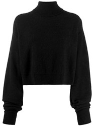 Andrea Ya'aqov Plain Turtleneck Jumper Black