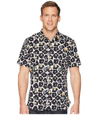 Perry Ellis Short Sleeve Modern Floral Shirt Bright White Clothing