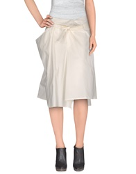 Malloni Knee Length Skirts White