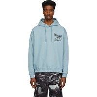 Moschino Blue Reverse Double Question Mark Hoodie