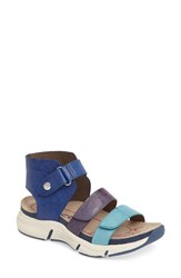 Bionica Women's Olanta Strappy Sandal Blue Leather