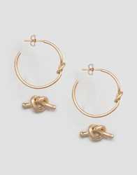 Selected Femme Sima 2 Pack Earrings Worn Gold