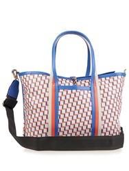 Pierre Hardy Cube Print Coated Canvas Tote Multi