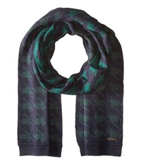 Ted Baker Twenton Scaled Houndstooth Scarf Navy Scarves