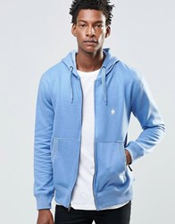 French Connection Hoodie Zip Through Blue Grey