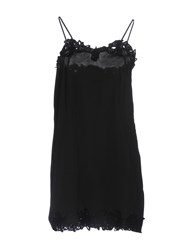 Twin Set Jeans Short Dresses Black