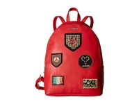 Love Moschino Patched Backpack Red Backpack Bags