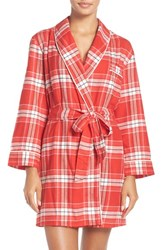 Kate Spade Women's New York Plaid Flannel Robe